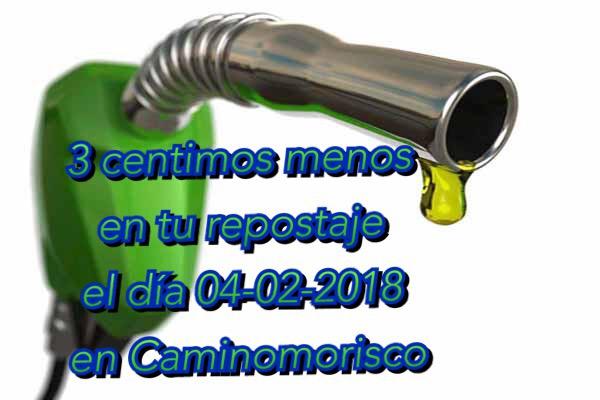 Oferta en repostaje, en la gasolinera de Caminomorisco