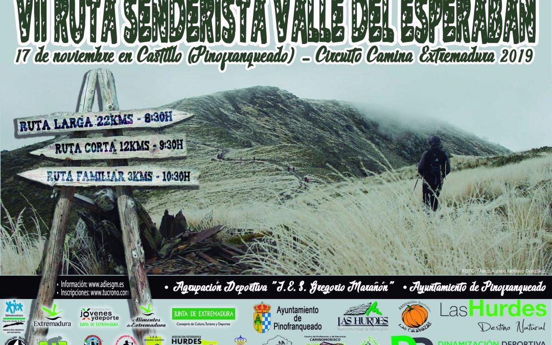 Información Ruta Senderista Valle del Esperabán